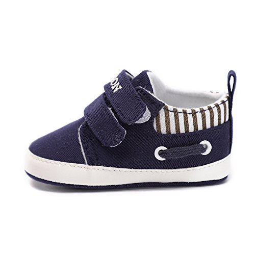 Niña Recien Nacido Colores Primeros Armada Con Sólidos Niño Suela De Blanda Zapatillas Botas Pasos Velcro Lona Antideslizante Zapatos Bebe cwXypIqYc