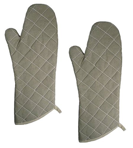 17-inch Flame Resistant Oven Mitts, Flame Retardant, Heat Resistant to 400° F, 5 X Set of 2 (5x2 Pack) by Update International