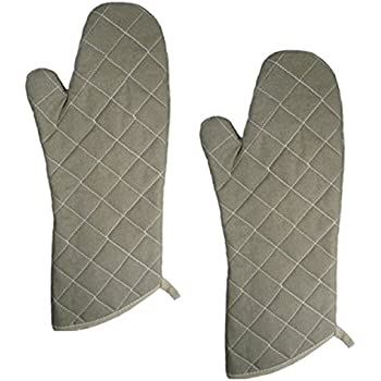 17-inch Flame Resistant Oven Mitts, Flame Retardant, Heat Resistant to 400° F, 5 X Set of 2 (5x2 Pack)