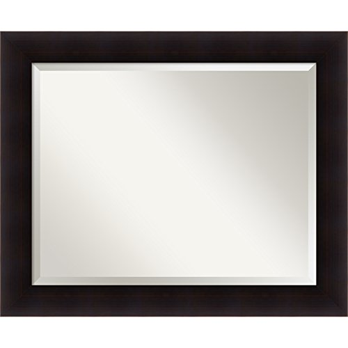 Espresso Finish Mirror (Bathroom Mirror Large, Portico Espresso: Outer Size 34 x 28