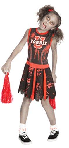 Kids Zombie Cheerleader Costumes (Big Girls' Zombie Cheerleader Costume - X-Large)