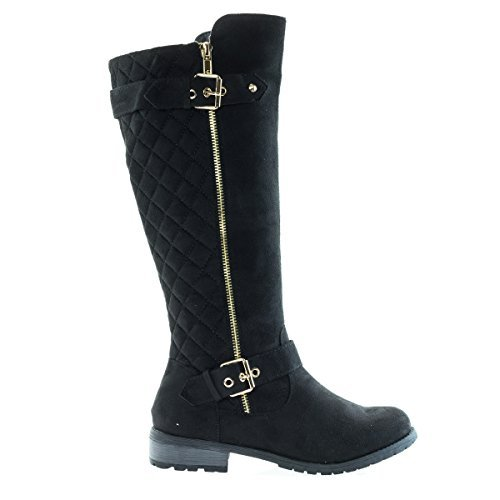 Black Biker Boots For Women - 2