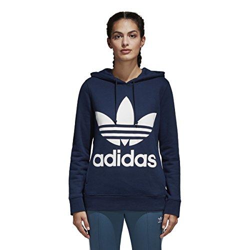 adidas Originals Women's Trefoil Hoodie, Collegiate Navy, Medium - Collegiate Hooded Pullover