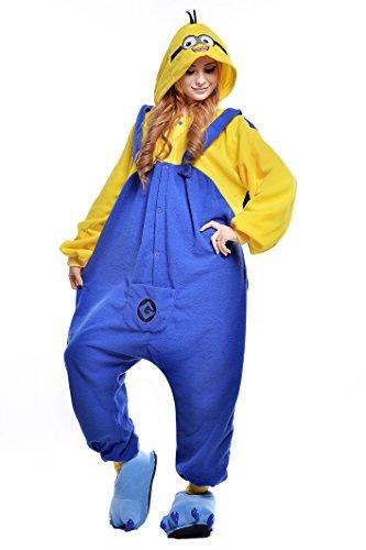 NEWCOSPLAY NEWCOSPLAYAdult Anime Unisex Pyjamas Halloween Onesie Costume (L  Minions) ()