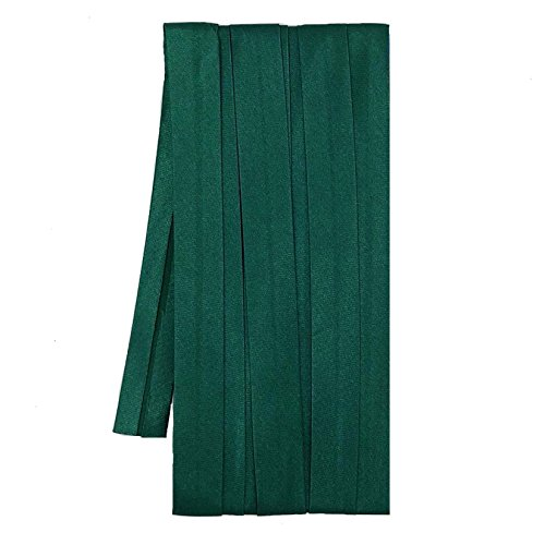 Sakura Satin Bias Tape Fold - Single Fold, Dark Green Color 12 Mm. (3 Yards / Pack) Set of 4 SSL-091348