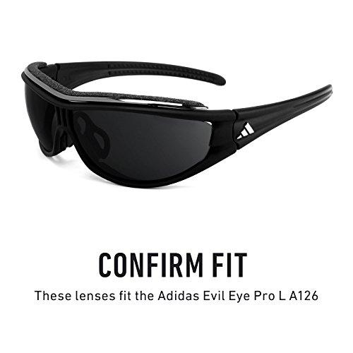 Verres de rechange pour Adidas Evil Eye Pro L A126 — Plusieurs options Polarisés Elite Marron Foncé