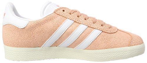Naranja Adidas Footwear de Gimnasia Off 0 W Gazelle Orange Zapatillas White Clear para Mujer White qrp40qxw