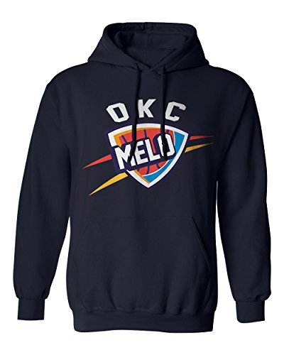 Oklahoma City Anthony  Melo  Logo Mens Hoodie Sweatshirt  Navy M