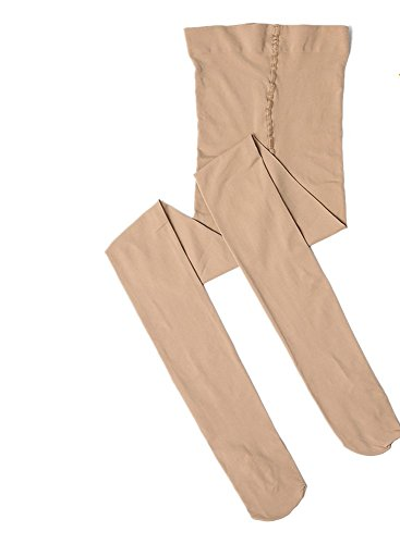 7D33 Dux Dance Light Suntan Convertible Dance Tights - Medium Child