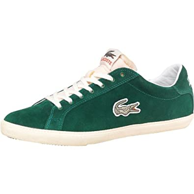 7404bfca5a179 Lacoste Mens Graduate Vulc 2 Vintage Suede Trainers Green  Amazon.co.uk   Shoes   Bags