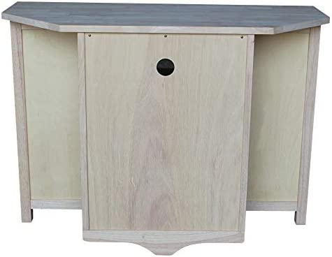 International Concepts Unfinished Corner TV Entertainment Stand
