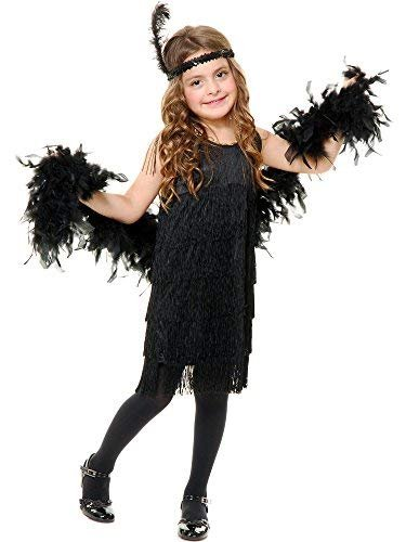 Charades Fashion Flapper Girl's Costume Dress, Red, X-Small -