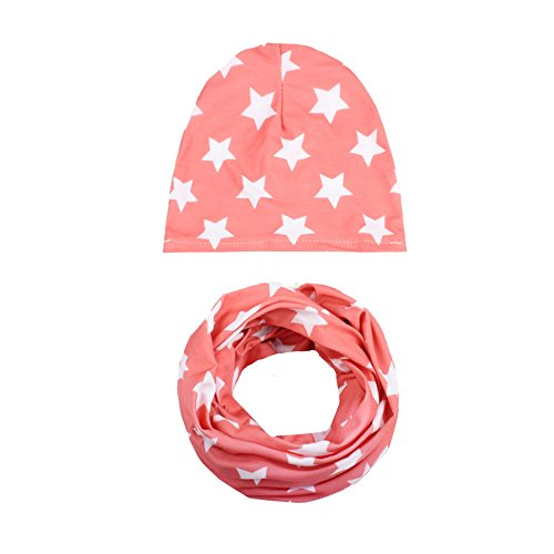Toddler Sweet Red Hood Girls Costumes (Winter Baby Hat Scarf Collars,Girl Boy Cap Children Soft Hats Toddler Kids Autumn -Steplove (Watermelon Red))