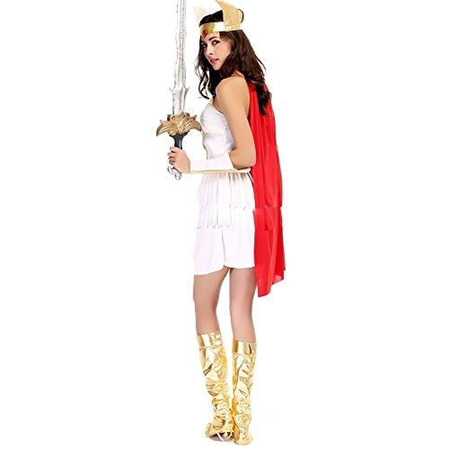 [RedExtend Ladies Warrior Greek Roman Goddess Gladiator Princess Fancy Costume] (Womens Roman Gladiator Costume)