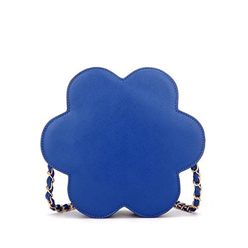 Shoulder Daisy Bag Flower Women Leather Crossbody Blue Handbag Pu YSYqF
