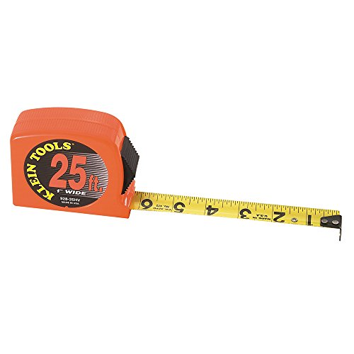 Klein Tools 928-25HV Tape Measure, High Visibility Case, 25-Foot - Klein Tools Measuring Tape