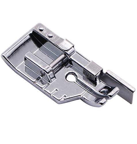 - 1/4'' (Quarter Inch) Quilting Patchwork Sewing Machine Presser Foot with Edge Guide for All Low Shank Snap-On Singer, Brother, Babylock, Euro-Pro, Janome, Juki, Kenmore, New Home, White, Simplicity