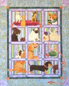 Java House Muchas Poochas BOM Dog Quilt 9 Pattern Set