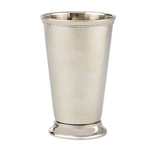 Elegance Mint Julep Nickel Plated on Brass Cup, 6-Inch, - Cup Silver Trophy