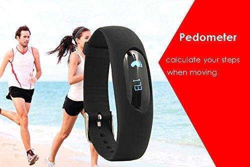 stardrift Pedometer Bracelet Smart Wristband Step Calorie Walking Distance Counter Sleep Monitor Time / Date Display for Outdoor Sports Running Walking (black) by stardrift (Image #3)