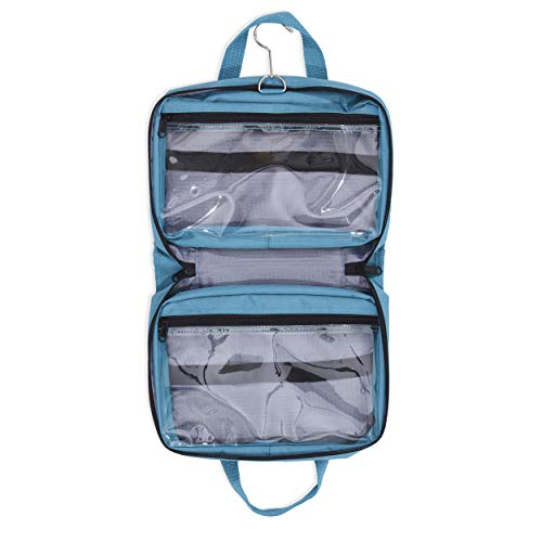Hanging Toiletry Bag & Cosmetic Organizer - Large Size, See-Through & Lightweight (Medium Teal)
