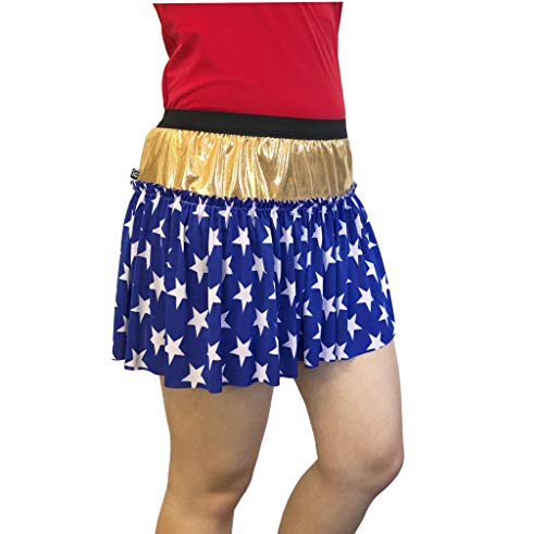 Superhero Star-Print Running Skirt