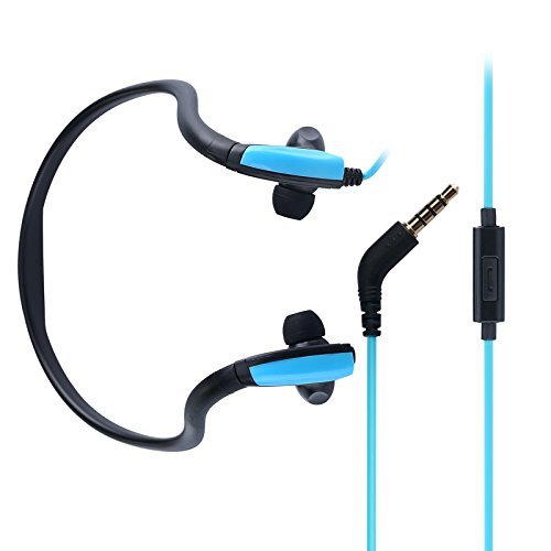 Wired Headphones,Neckband Headphone,IPX5 Waterproof In-Ear Sports Earbuds Behind the Neck Headphones,Sweatproof Earphones Headsets with Microphone for Running Jogging by Ayans