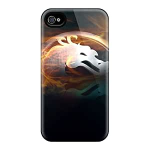 4/4s Scratch-proof Protection Case Cover For Iphone/ Hot Mortal Kombat Phone Case