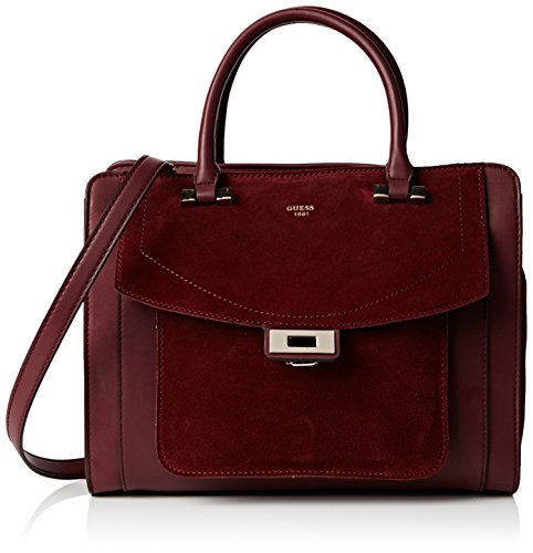 Satchel Femme Rouge bordeaux À Unique Kingsley Main Sacs Guess Taille gnRAw5q8Xx