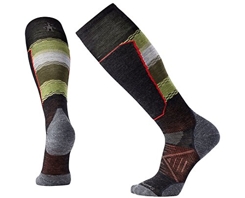 Smartwool Men's PhD Ski Light Elite Pattern Socks (Charcoal) Large