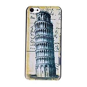 ZCL Pisa Tower Stamps Pattern PC Hard Case for iPhone 5C