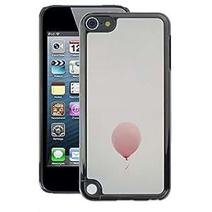 A-type Arte & diseño plástico duro Fundas Cover Cubre Hard Case Cover para Apple iPod Touch 5 (Balloon Thought Deep Pink Sky Dreams)