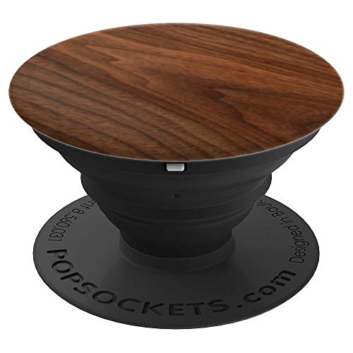 (Walnut  Veneer Phone Kickstand - PopSockets Grip and Stand for Phones and)