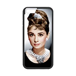 Audrey Hepburn iPhone 6 Plus 5.5 Inch Cell Phone Case Black R2930389