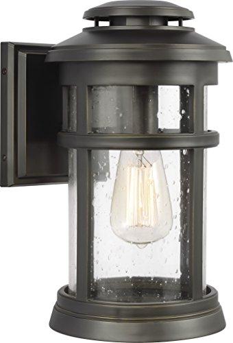 Feiss OL14301ANBZ Newport StoneStrong Marine Grade Outdoor Patio Lighting Wall Lantern, Bronze, 1-Light (8