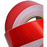 25m Red Reflective Tape Sticker Vinyl Decal ECE104 for Truck Lorry Trailer HGV