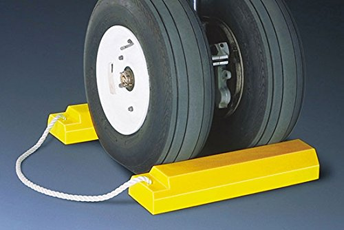 Airplane Chocks - AC3500 Series; Length: 18''; Width: 5''; Height: 3''; Lanyard: 24''; Color: Yellow