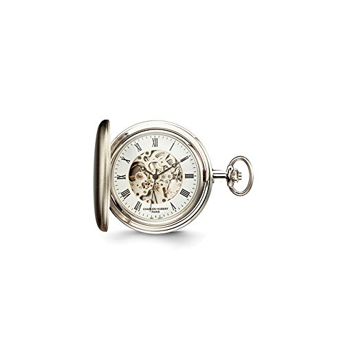 Charles Hubert Satin Chrome Finish Brass Pocket Watch ()