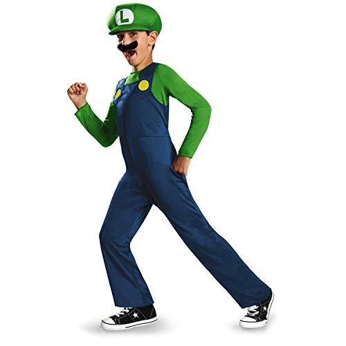 Nintendo Super Mario Brothers Luigi Classic Boys Costume, Medium/7-8 ()