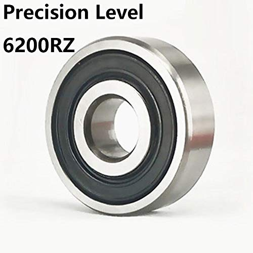 Ochoos 2pcs//lot 6200RZ Deep Groove Ball Bearing Precision Level 6200-RZ 6200RZ 10309mm 10309 Bearing Steel Material