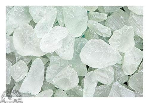 Down to Earth Sage Green Sea Glass - for Vase Fillers or Ponds, 2 lbs ()