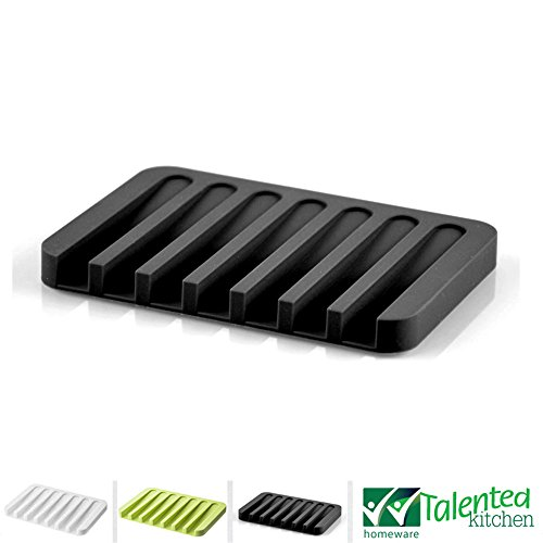 SILICONE SOAP DISH DRAINER BLACK product image