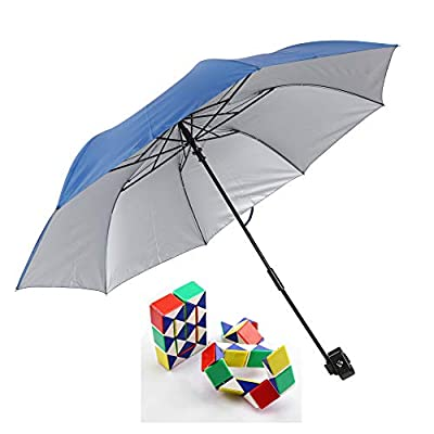 Genesis21 Ozark Trail Chair Umbrella Light Blue with 3D Snake Cube Puzzle : Garden & Outdoor