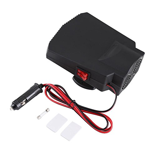 Zerodis 12V 250W Car Heater Defroster Portable Car Heating Cooling Fan Defroster Demister with Adhesive Stickers
