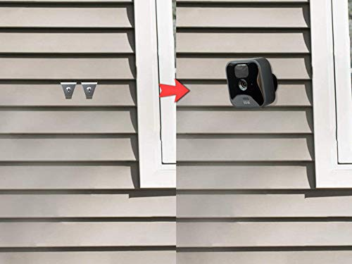 (12 Pack) Blink Outdoor Camera Vinyl Siding Clips Hooks, No-Hole Needed Outdoor Siding Hanger for Mounting Blink XT2 Blink Outdoor Home Security System, Weatherproof Stainless Steel Blink Siding Mount