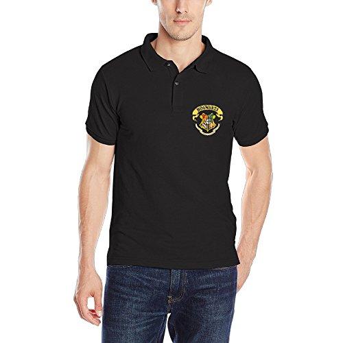 Harry Potter Hogwarts Crest Mens Short-Sleeve Pique Polo Shirts (Mens Crest Polo)