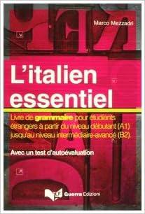 L Italien Essentiel Livre De Grammaire Pour Etudiants