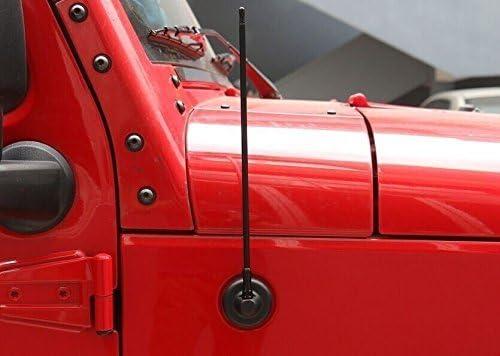 ジープ ラングラー JK Jeep Wrangler ゲートアンテナ アンリミテッド ドアアンテナ ラングラー JK アクセサリー おしゃれ 13インチ /33CM ブラック HANBUN