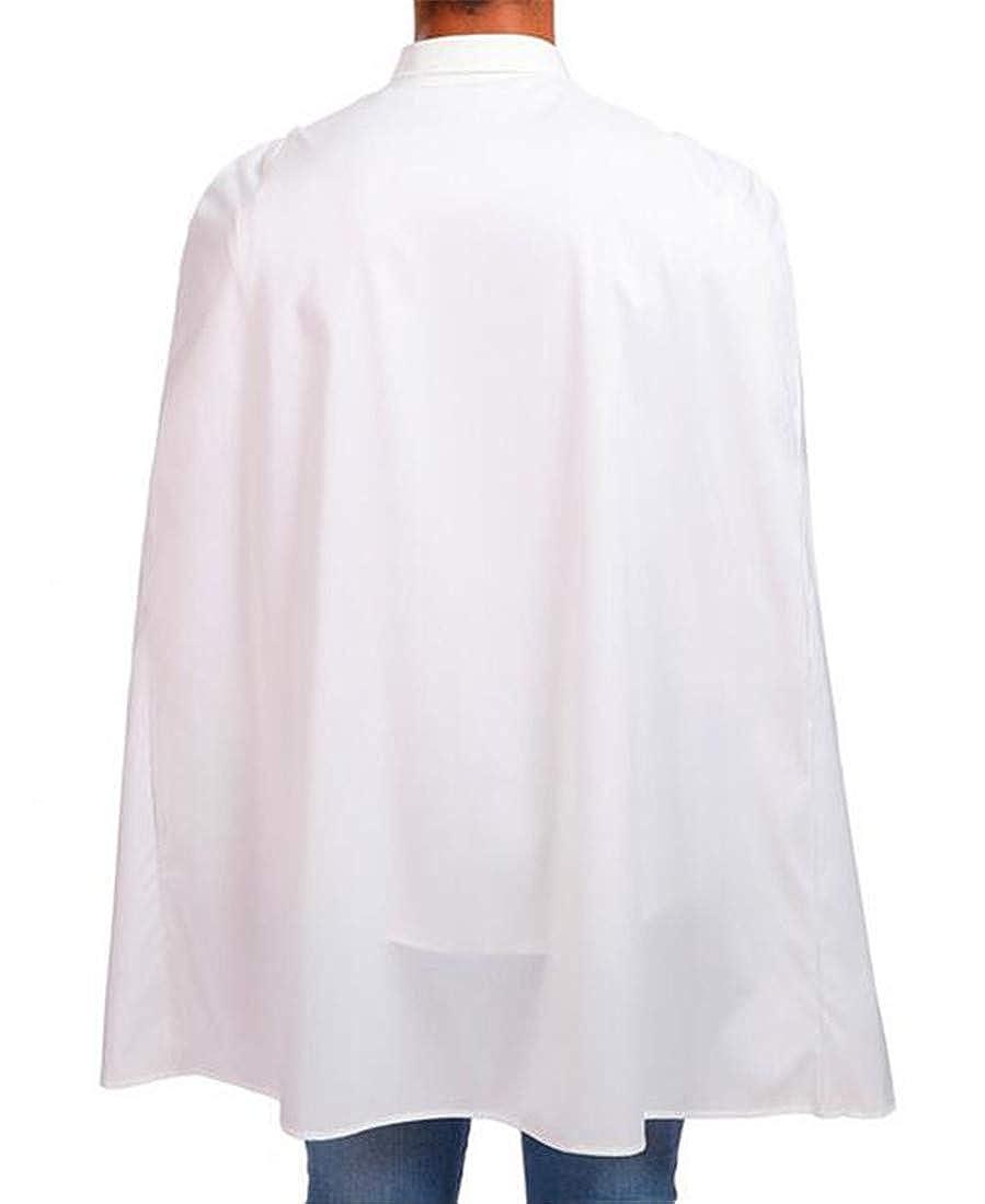 Nanquan Men Solid Long Sleeve Fashion Caftan Poncho Button Shirt Blouse Tops