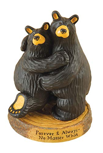 DEMDACO Big Sky BearFoots Forever and Always Wedding Anniversary Black Bear Couple Figurine
